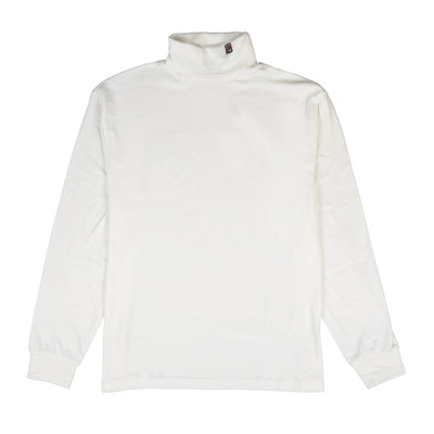 POLO NECK FLAG TURTLENECK // WHITE
