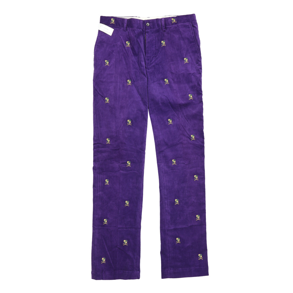 POLO SHIELD CLUB CORDUROY PANT // PURPLE