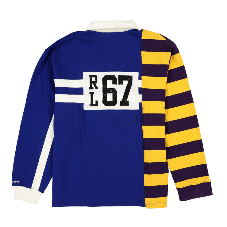 POLO SPORT BACKPATCH STRIPE LS POLO // BLUE YELLOW PURPLE