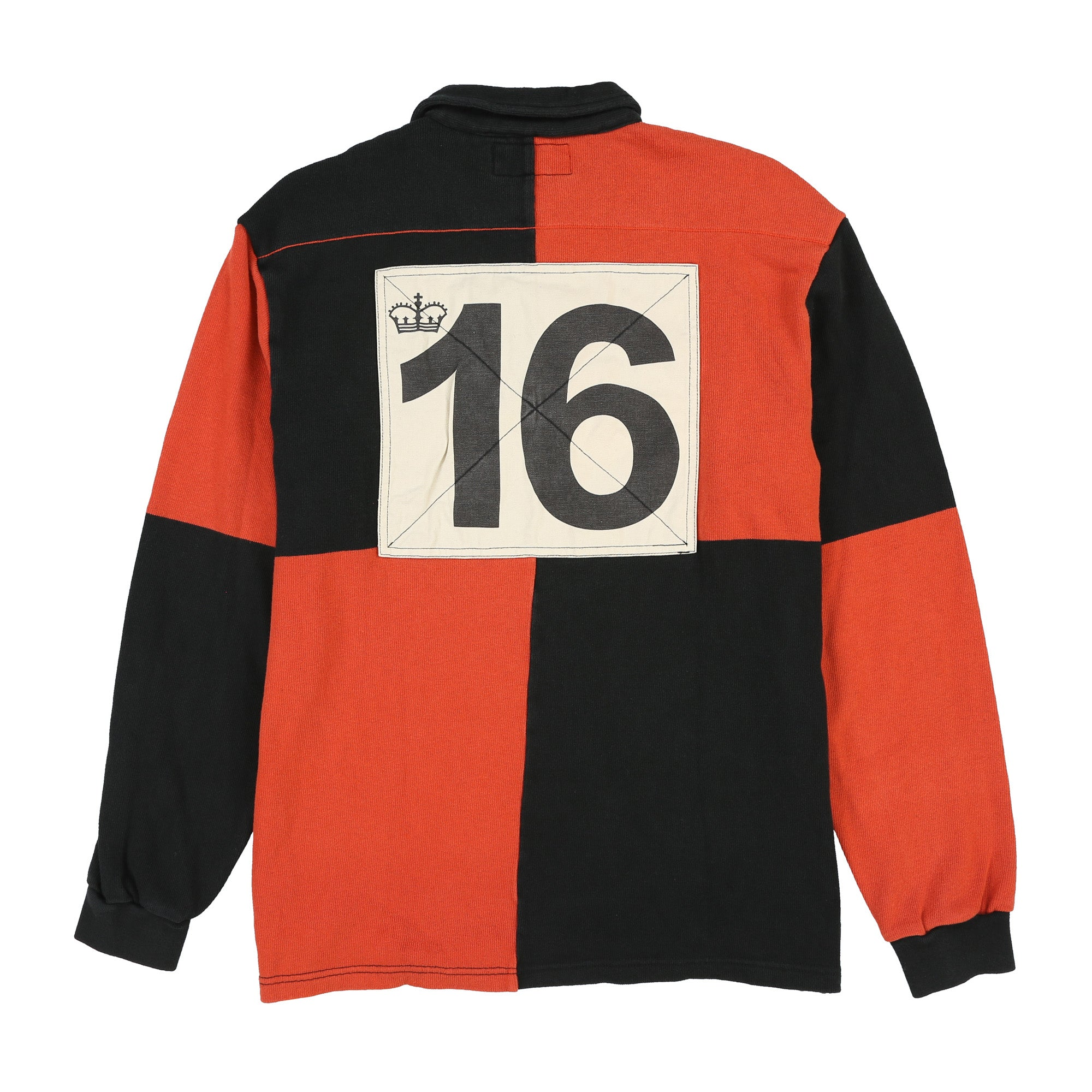 POLO SPORT BACKPATCH CROWN COOKIE LS POLO // BLACK ORANGE
