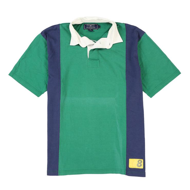 POLO 888 MADISON AVE SS POLO // GREEN NAVY