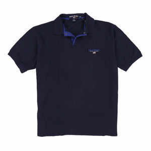 POLO SPORT 9J1 SPELL OUT SS POLO // FRENCH NAVY