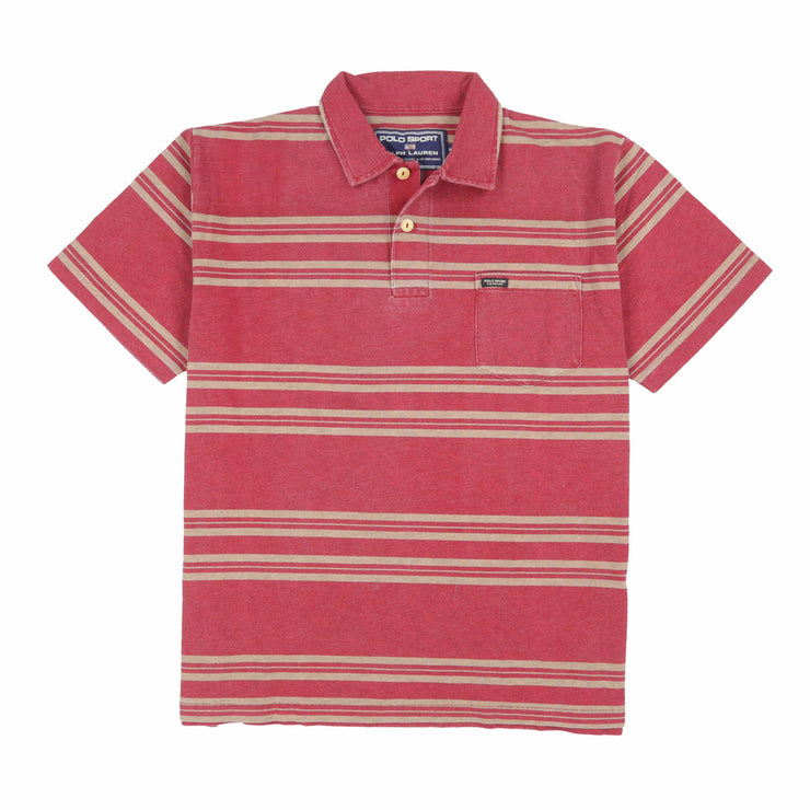 POLO SPORT SPORT1 POCKET SS POLO // RED BROWN