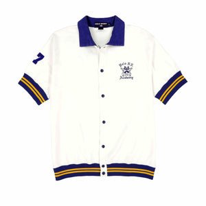 POLO SPORT POLO ACADEMY SHIELD JERSEY // WHITE NAVY