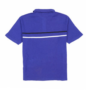 POLO SPORT PSCLASSICS2 SS STRIPE POLO // BLUE