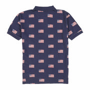 POLO ALL OVER FLAG SS POLO // NAVY