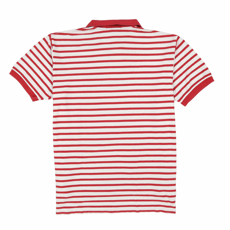 POLO STRIPE SS POLO // RED WHITE