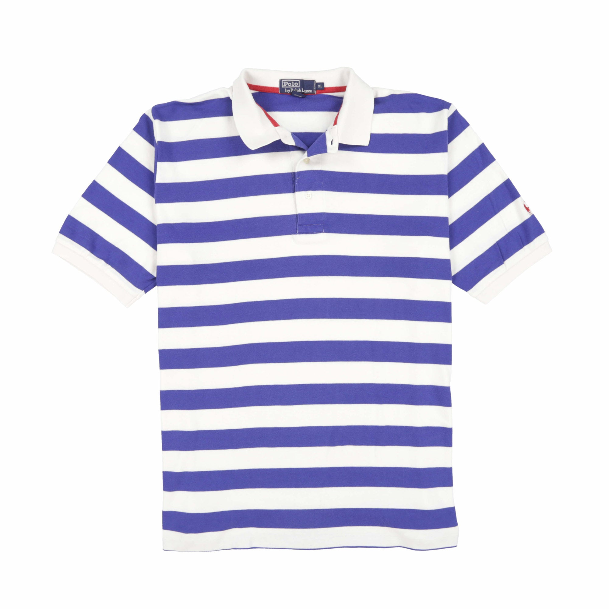 POLO STRIPE SS POLO // ROYAL BLUE WHITE