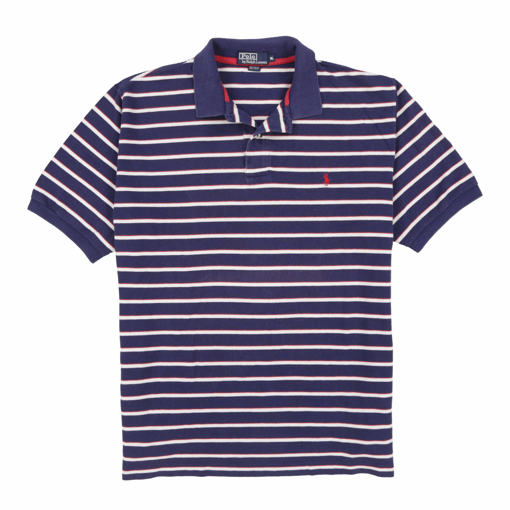 POLO STRIPE SS POLO // NAVY RED WHITE