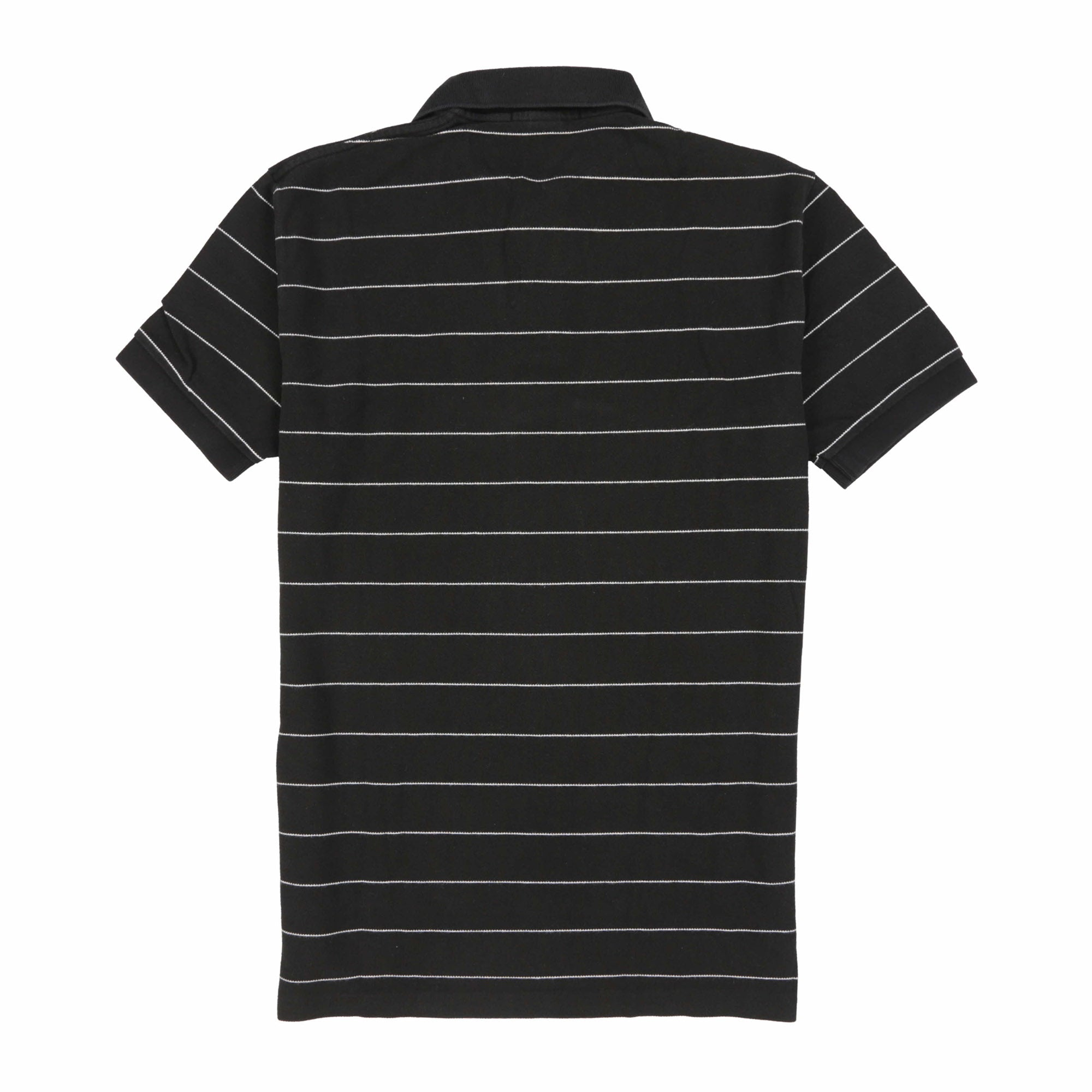 POLO STRIPE SS POLO // BLACK WHITE