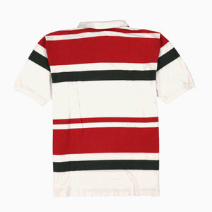 POLO STRIPE SS POLO // WHITE RED GREEN