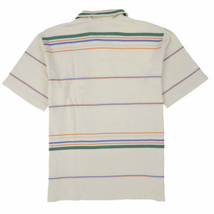 POLO STRIPE SS POLO // GREEN BLUE ORANGE