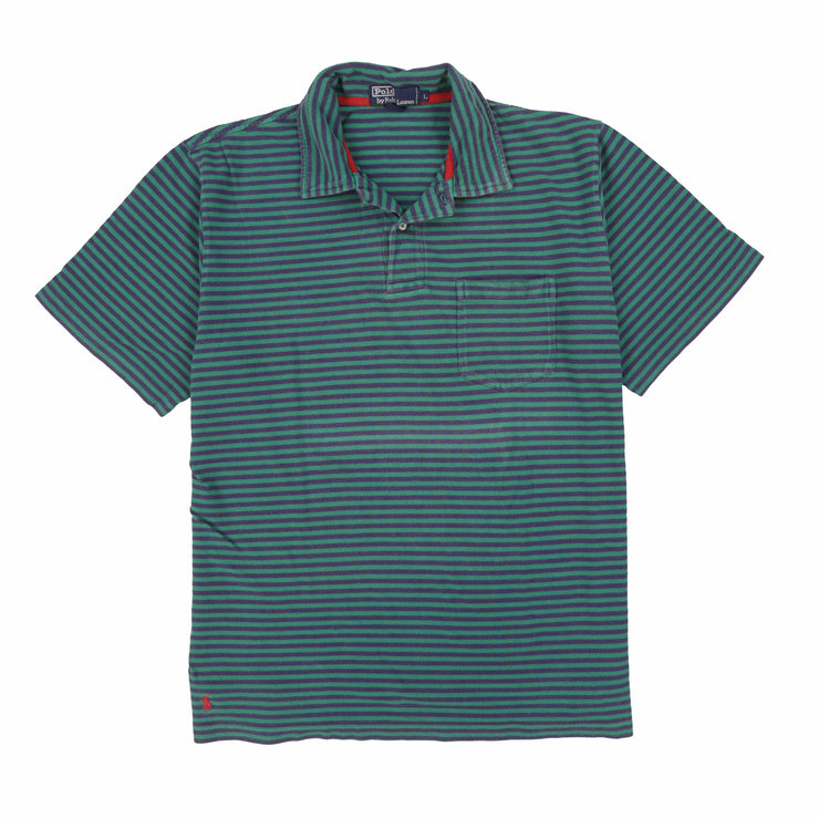 POLO STRIPE SS POLO // GREEN BLUE