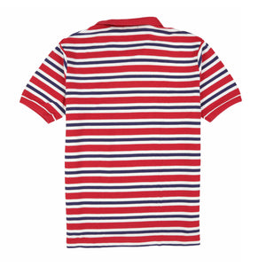 POLO STRIPE SS POLO // RED WHITE BLUE