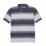 POLO STRIPE SS POLO // BLUE WHITE