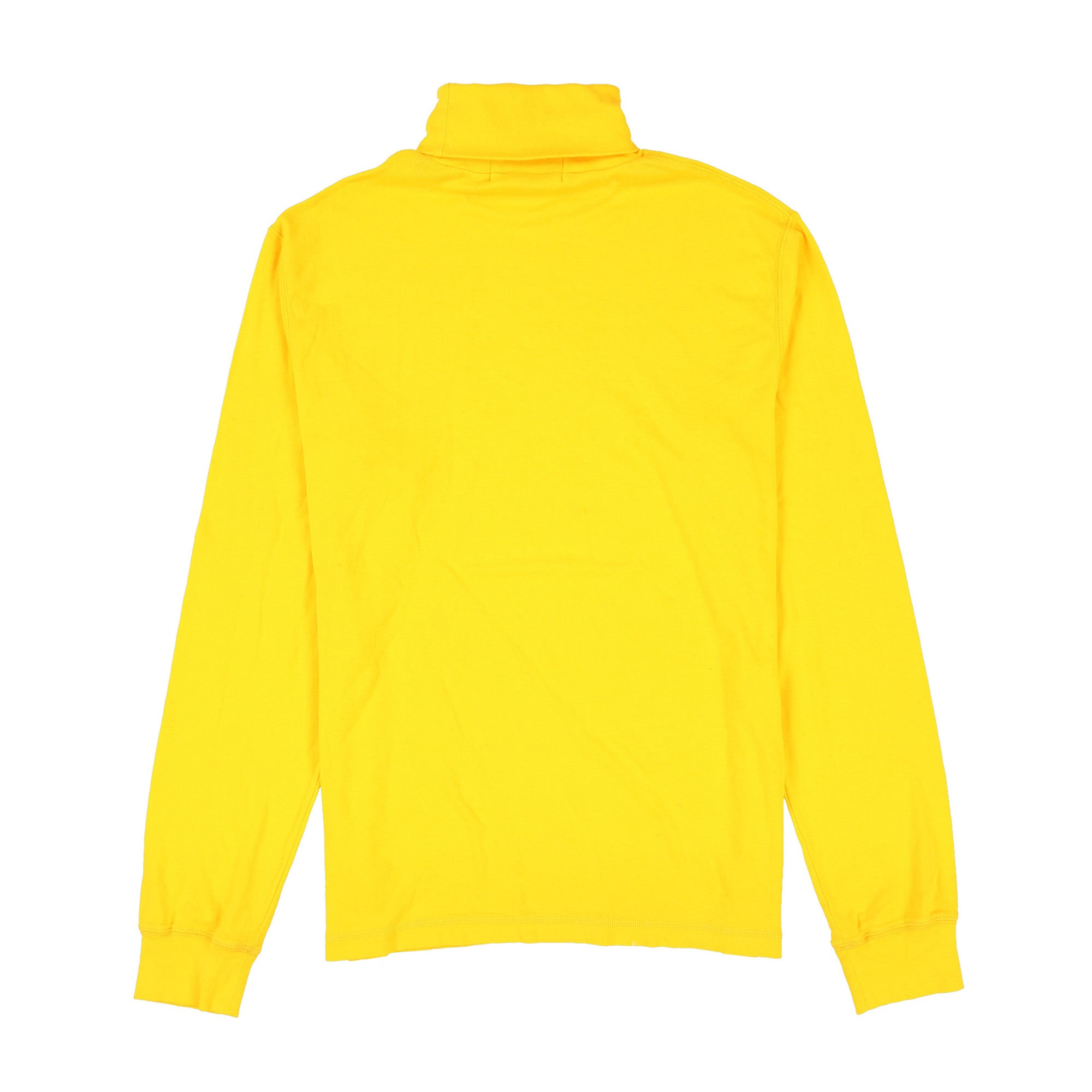 POLO SPORT NECK SPELL OUT SLD RIB TURTLENECK // YELLOW