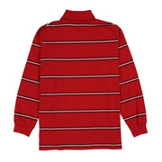 POLO SPORT EMB SPELL OUT STRIPE TURTLENECK // RED NAVY WHITE