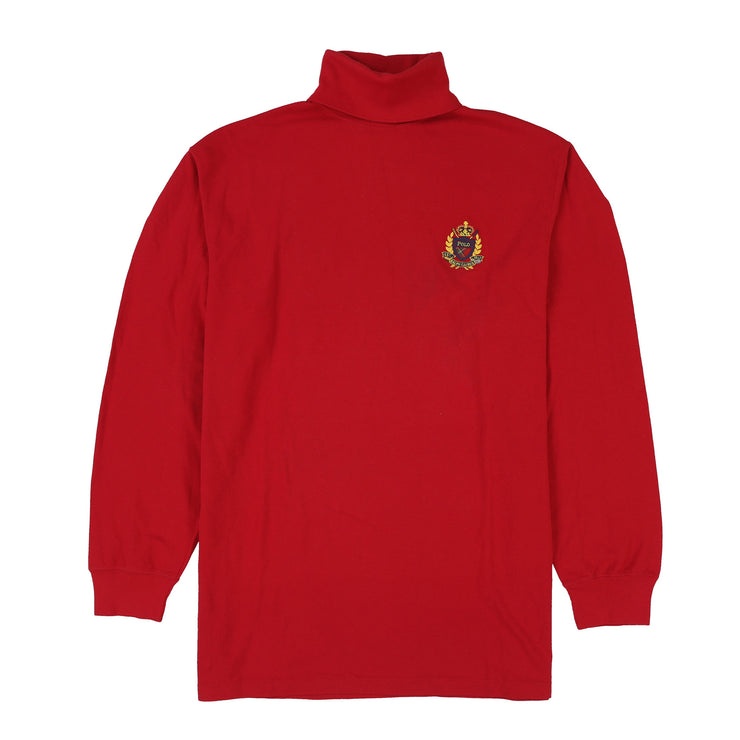 POLO TOUR CREST TURTLENECK // RED