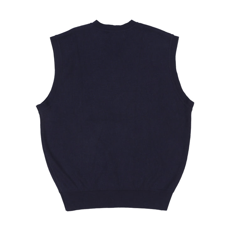 RLX EMB SPELL OUT MUSCLE TANK // NAVY