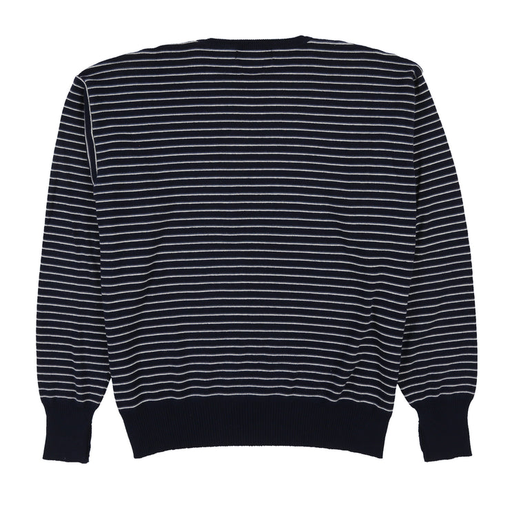 POLO CLASSICS STRIPE KNIT SWEATER // NAVY