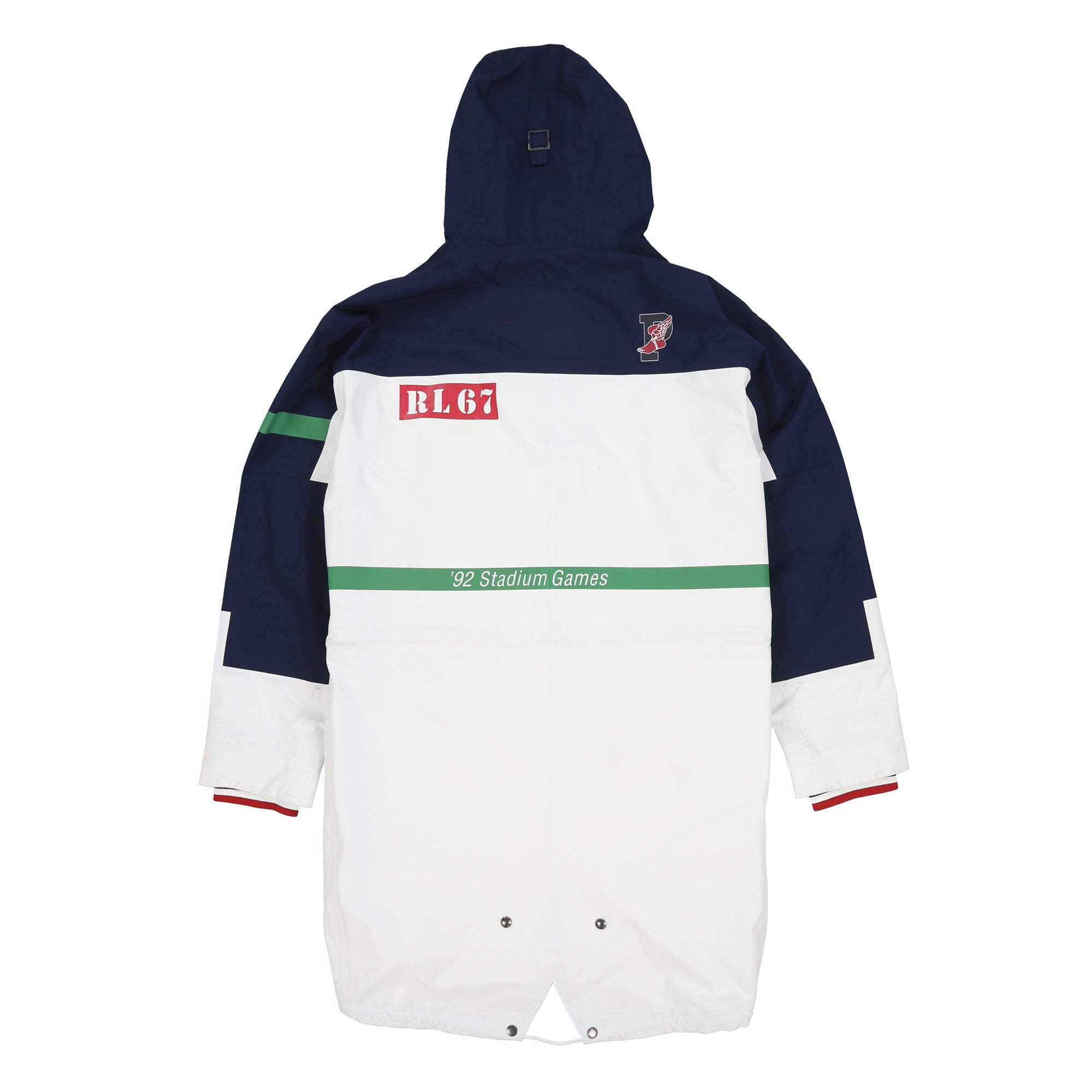 POLO M STADIUM 1992 CLASSICS JACKET // WHITE NAVY