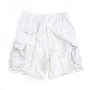 POLO CARGO DOUBLE BUTTON SHORT // WHITE