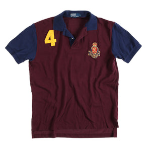 POLO CROWN CREST POLO // BURGUNDY NAVY