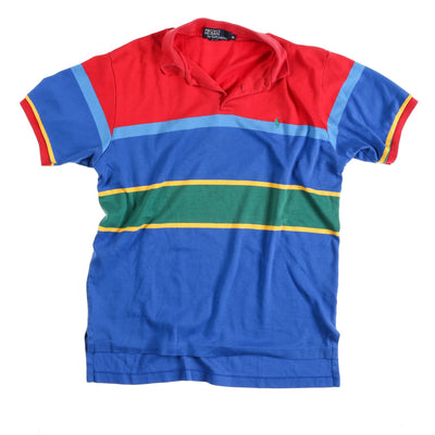POLO MADE USA STRIPED POLO // RED BLUE