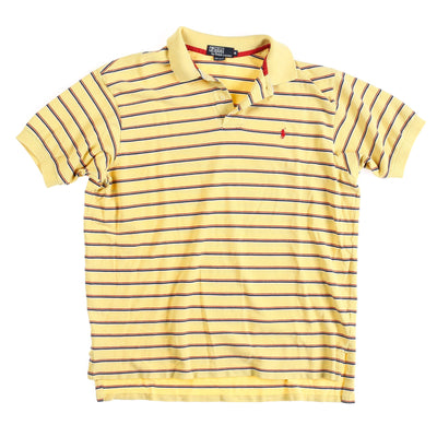 POLO MADE USA STRIPED POLO // YELLOW BLUE