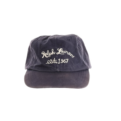 POLO RL CHAINSTITCH HAT // NAVY