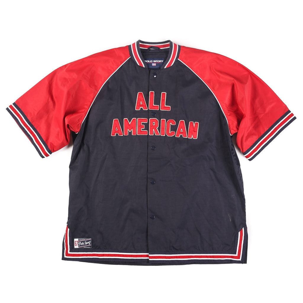 POLO SPORT ALL AMERICAN JERSEY // NAVY RED