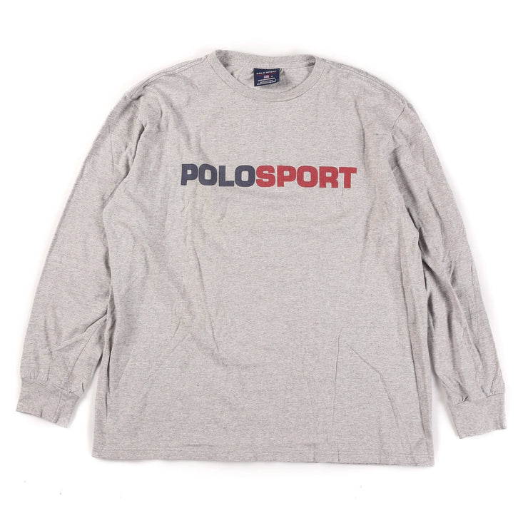 POLO SPORT BLOCK 98 LS TEE // GREY