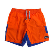 POLO SPORT BLOCK SPELL OUT SWIM TRUNK // ORANGE BLUE