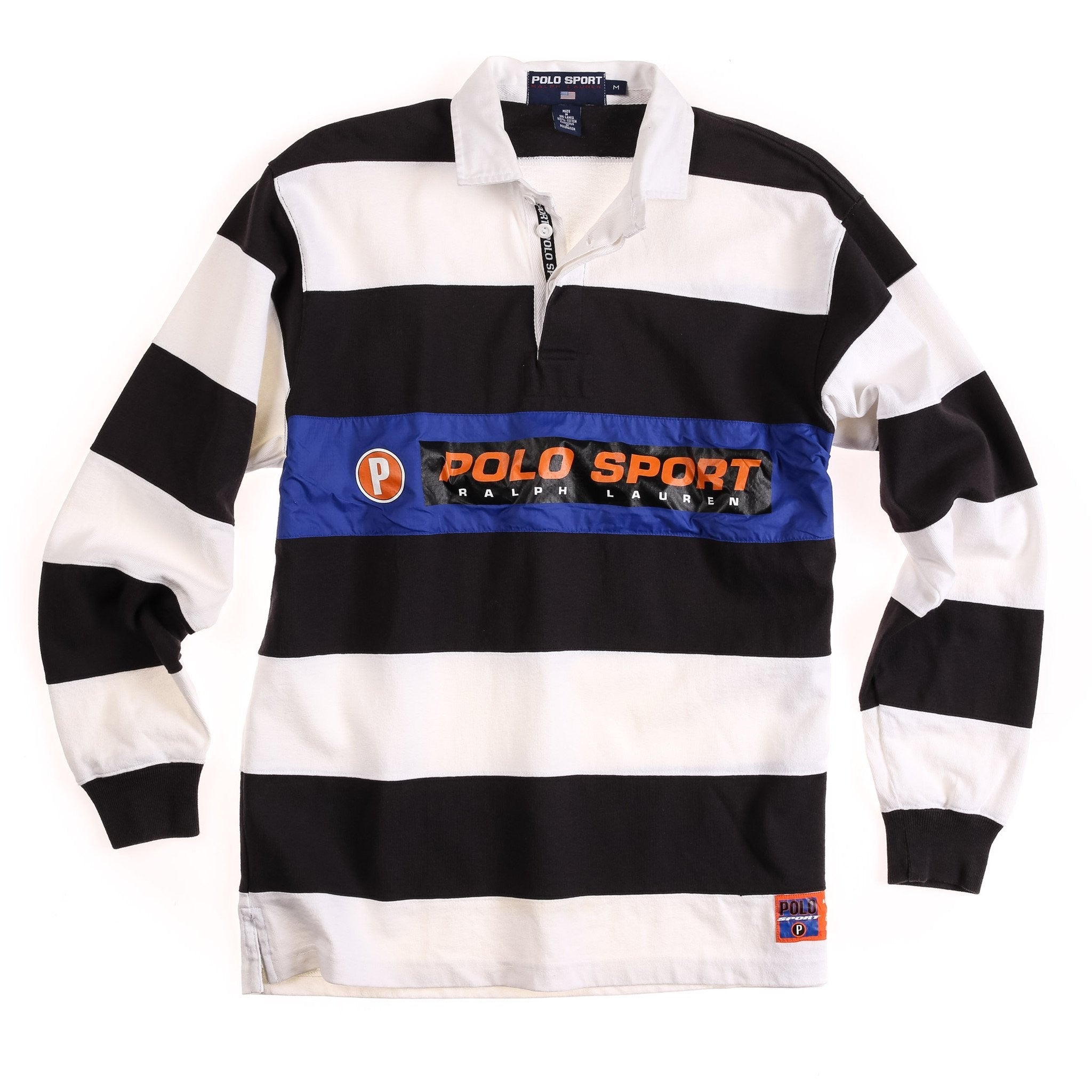 POLO SPORT CIRCLE P LS POLO // WHITE BLACK