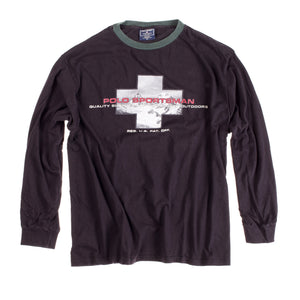 POLO SPORT CROSS SPORTSMAN OUTDOORS LS TEE // BLACK