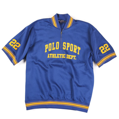 POLO SPORT FIELD H1 ATHLETIC DEPT 22 JERSEY // ROYAL BLUE