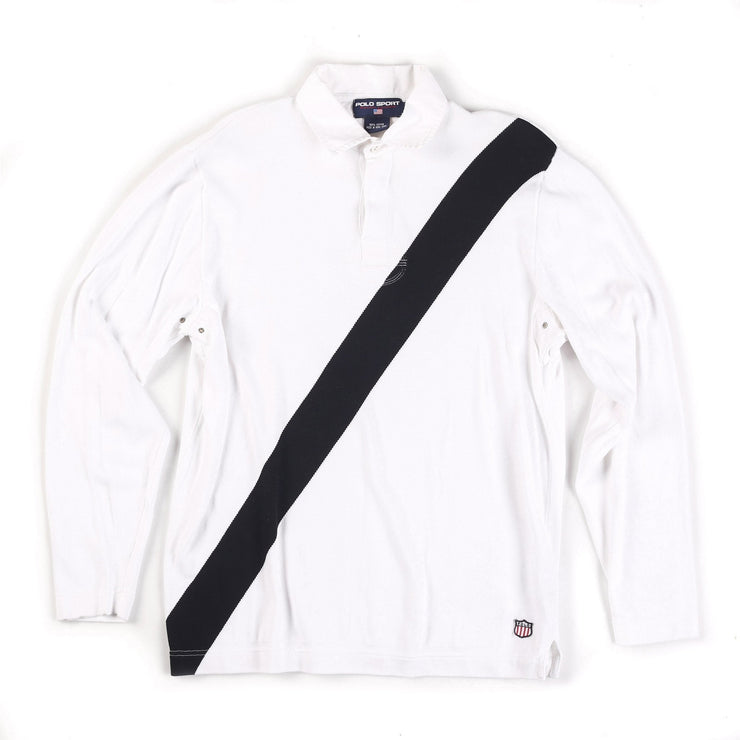 POLO SPORT OLYMPIC H 1992 LS POLO // WHITE BLACK