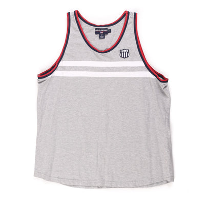 POLO SPORT OLYMPIC H 1992 SHIELD TANKTOP // GREY