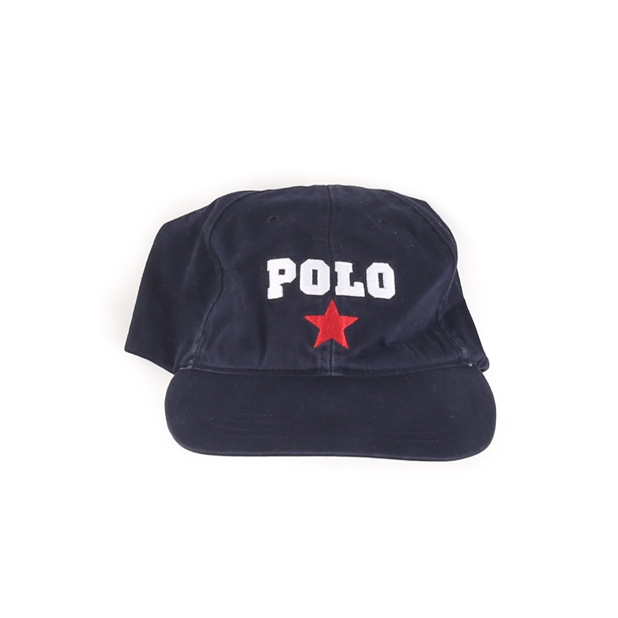 POLO SPORT STAR SPELL OUT HAT // NAVY