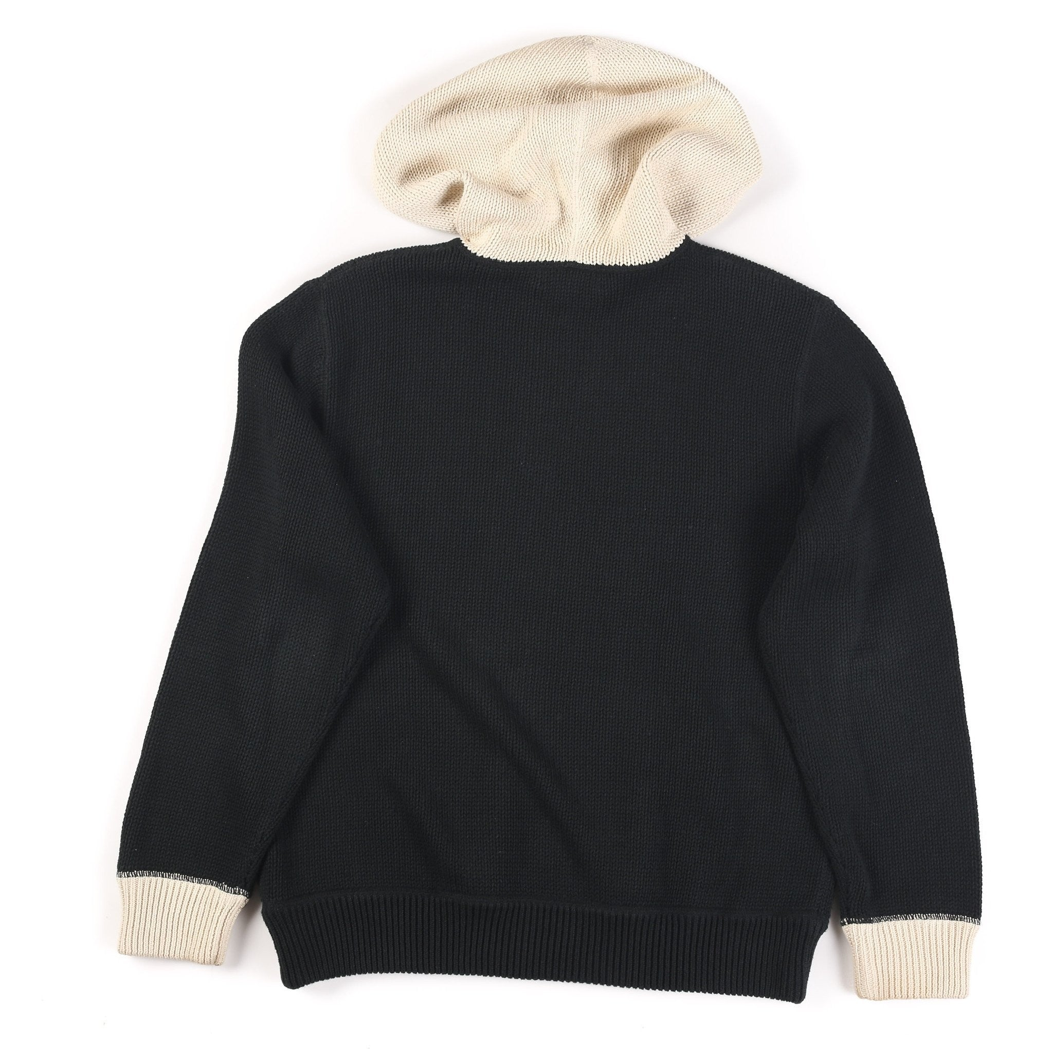 POLO TRACK TEAM HOODED SWEATER // BLACK WHITE