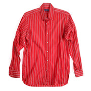 RL PURPLE LABEL STRIPED LS SHIRT // RED WHITE