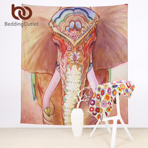 Bohemian Style Elephant Wall Tapestry Indian