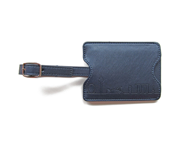 Skyline Outline Luggage Tag (Leatherette) - LOVE SG