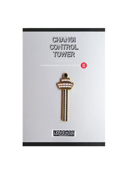 Changi Control Tower Collar Pin - LOVE SG