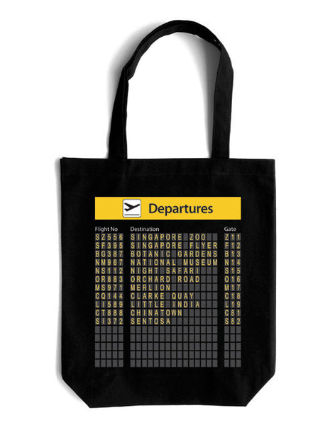 Departure Board Canvas Bag - LOVE SG