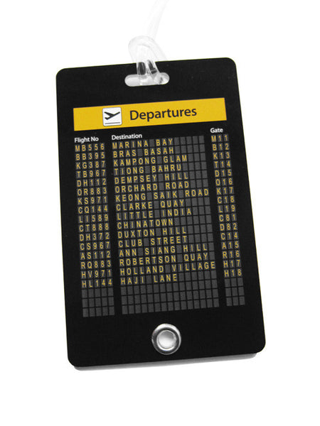 Departure Board Luggage Tag - LOVE SG