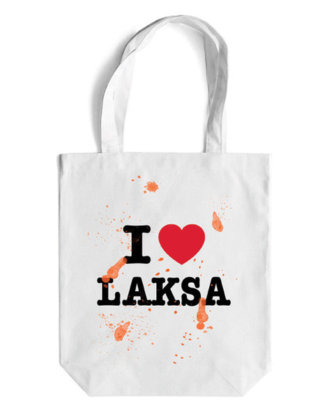 I LOVE LAKSA Canvas Bag - LOVE SG
