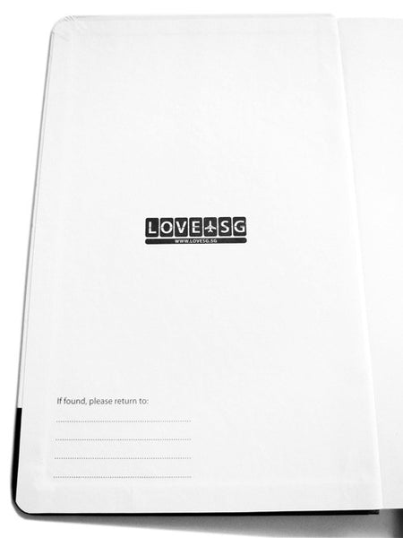 Scrambled Icons Notebook - LOVE SG