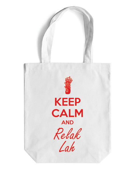 Keep Calm Canvas Bag - LOVE SG