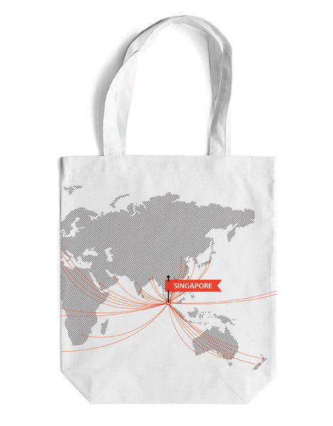 Route Map Canvas Bag - LOVE SG